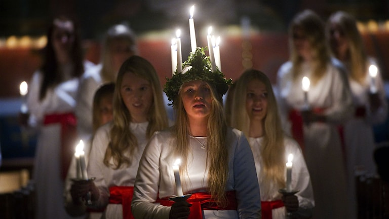 Many local councils are no longer organising official Lucia celebrations, due to lack of interest. Photo: Fredrik Sandberg/TT