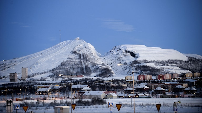 The far-north town of Kiruna is now in the depths of the polar night. Photo: Maja Suslin/TT.