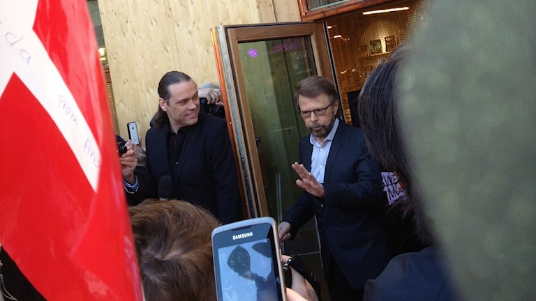 Björn Ulvaeus from Abba visiting the group's museum on its opening day. Photo: Dave Russell/SR