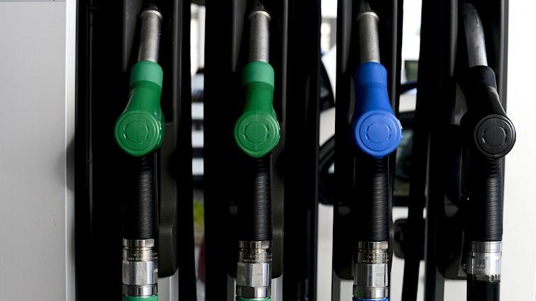Gast station pumps. Photo: Pontus Lundahl/TT.