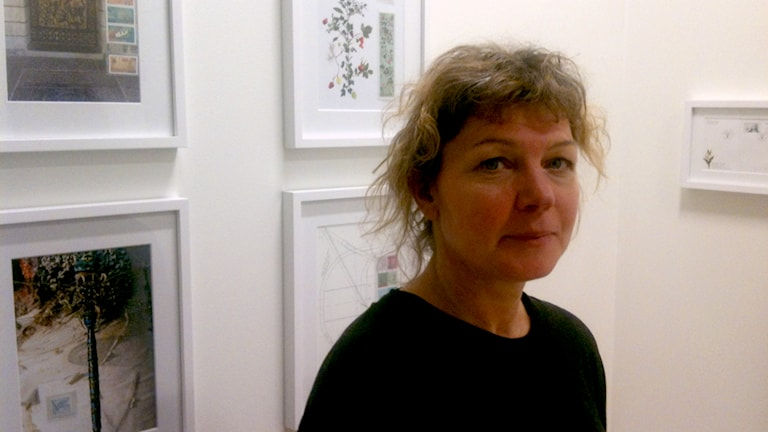 Kristina Olofsdotter head of design for stamps at Postnord. Photo: Ryan Tebo/Sveriges Radio.