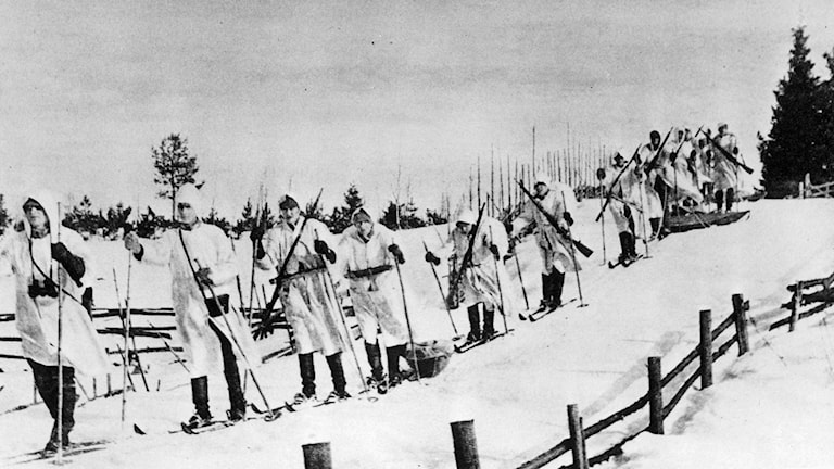 Finnish troops on the move during World War Two. Photo: TT