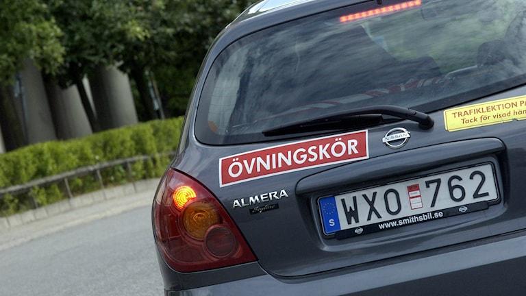 Student driver. Photo: Claus Gertsen/TT.