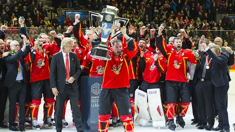 Luleå Hockey wins Champions Hockey League 2015. Photo: Robert Nyholm / TT.