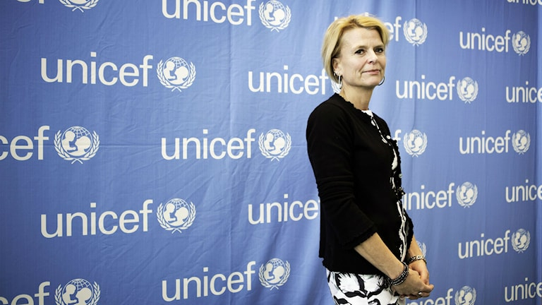 Minister for Children Åsa Regnér in New York to celebrate the UN Convention of the Rights of the Child in November 2014. Photo: Linus Sundahl-Djerf / TT