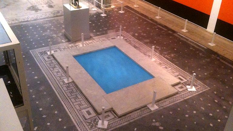 Swedish Pompeii Project exhibit at Millesgården: atrium. Photo: Ryan Tebo/Sveriges Radio.