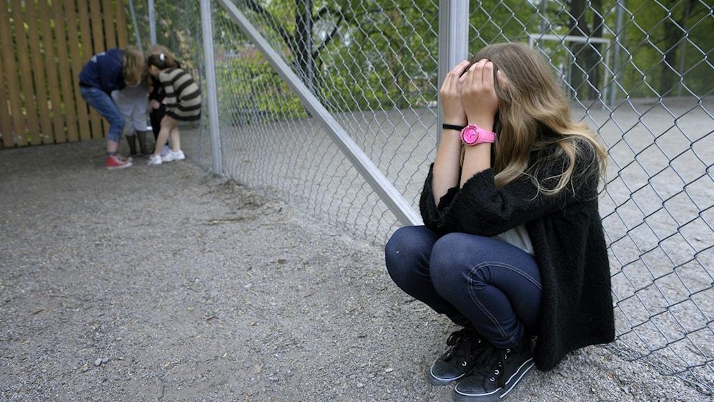 Picture of bullying in school (arranged). Photo: Janerik Henriksson / TT.