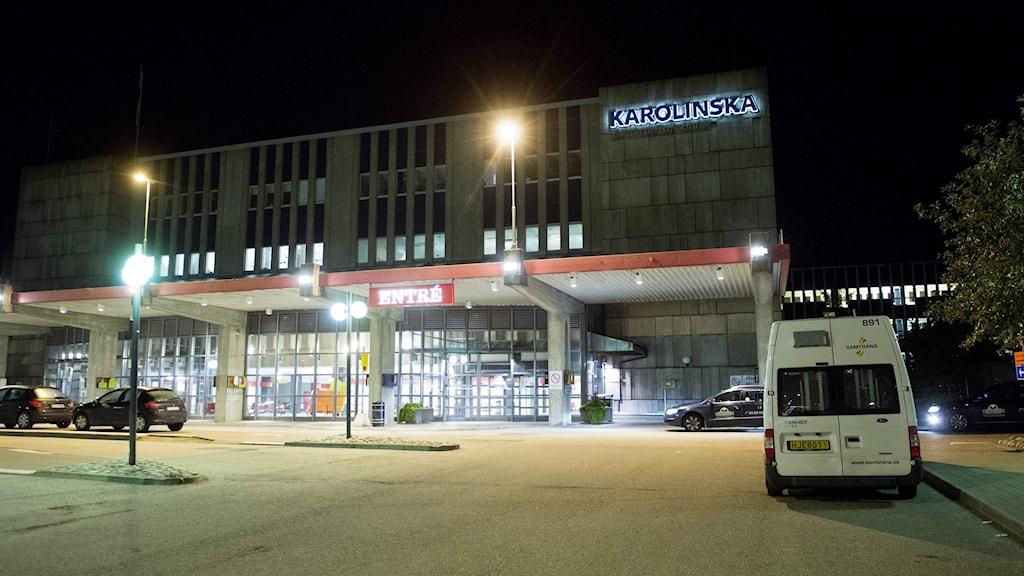 Karolinska University Hospital in Huddinge, Photo: Fredrik Sandberg/TT