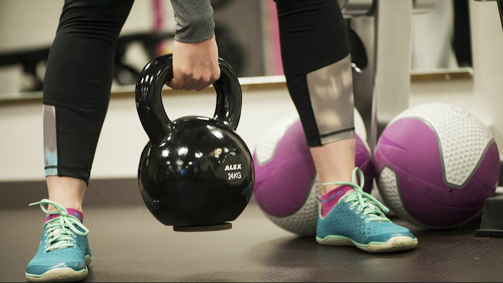 Training at a gym. Photo: Fredrik Sandberg / TT.