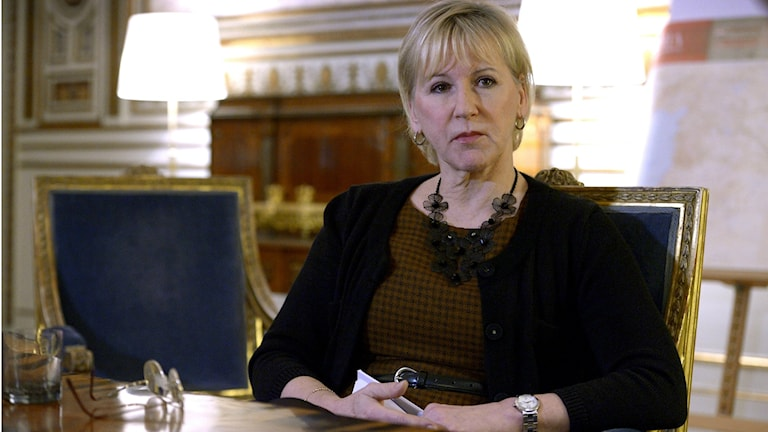 Foreign Minister Margot Wallström (Social Democrat). Photo: Janerik Henriksson / TT.