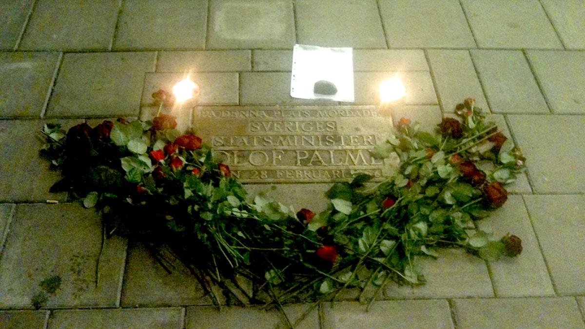 Remembering Olof Palme's murder 29 years ago. Photo: Ryan Tebo / Sveriges Radio.