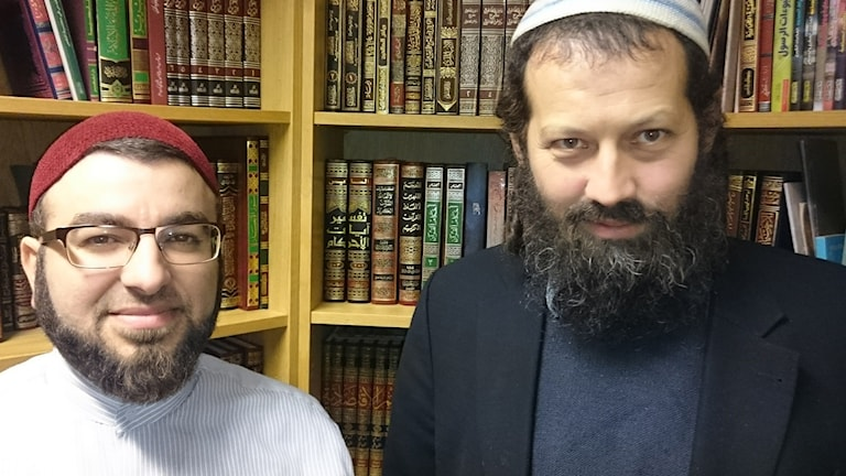 Salahuddin Barakat och Moshe David HaCohen at the offices of Islamakademin in Malmö,