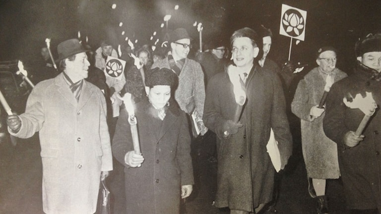 Olof Palme, later prime minister, was one of the many Swedes who protested against the US war in Vietnam