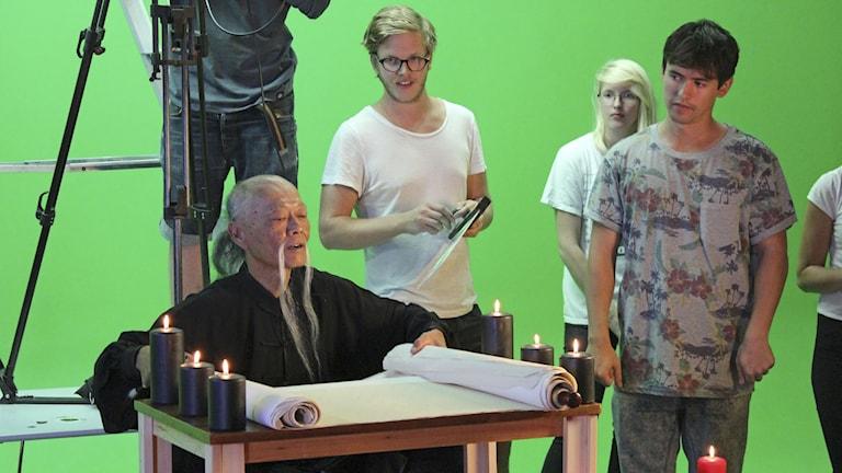 Behind the scenes of short-film Kung Fury. Photo: MARKO SÄÄVÄLÄ / TT