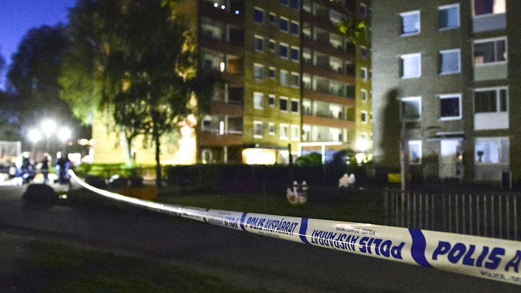 27 people were arrested after two criminal gangs started shooting against eachother at Ramels väg in Malmö. Photo: Johan Nilsson / TT