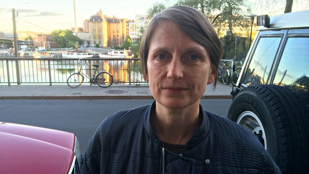 Anna-Karin Larsson director of Filmform experimental film and video art archive. Photo. Ryan Tebo / Sveriges Radio.