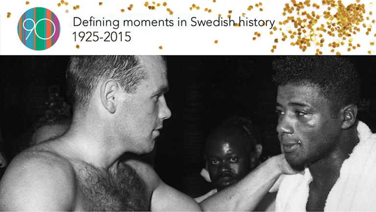 Ingemar Johansson and Floyd Patterson after the match. Photo: TT/UPI.