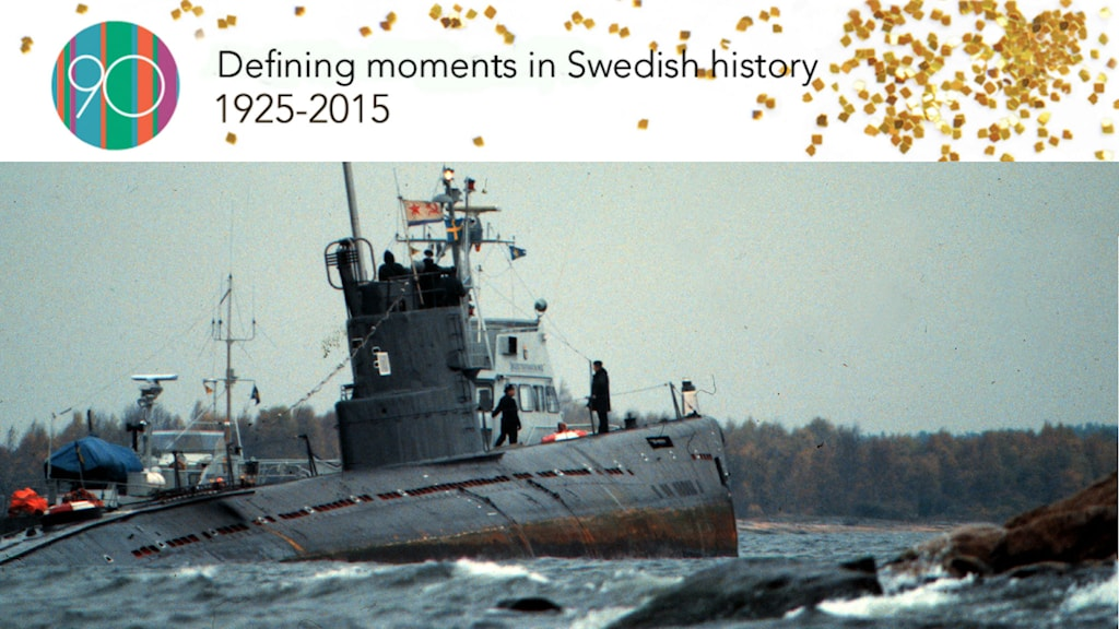 The submarine stayed on the rocks for 11 days before a Swedish tugboat escorted it to international water. Photo: TT/Jan Collsiöö.