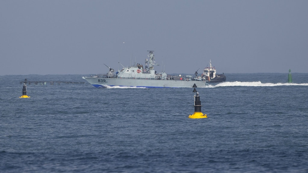 An Israeli naval vessel in the Mediterranean Sea. Israel's navy intercepted a vessel attempting to breach a naval blockade of Gaza early Monday and was redirecting it to an Israeli port, the military and the activists said. Photo: Ariel Schalit / AP.