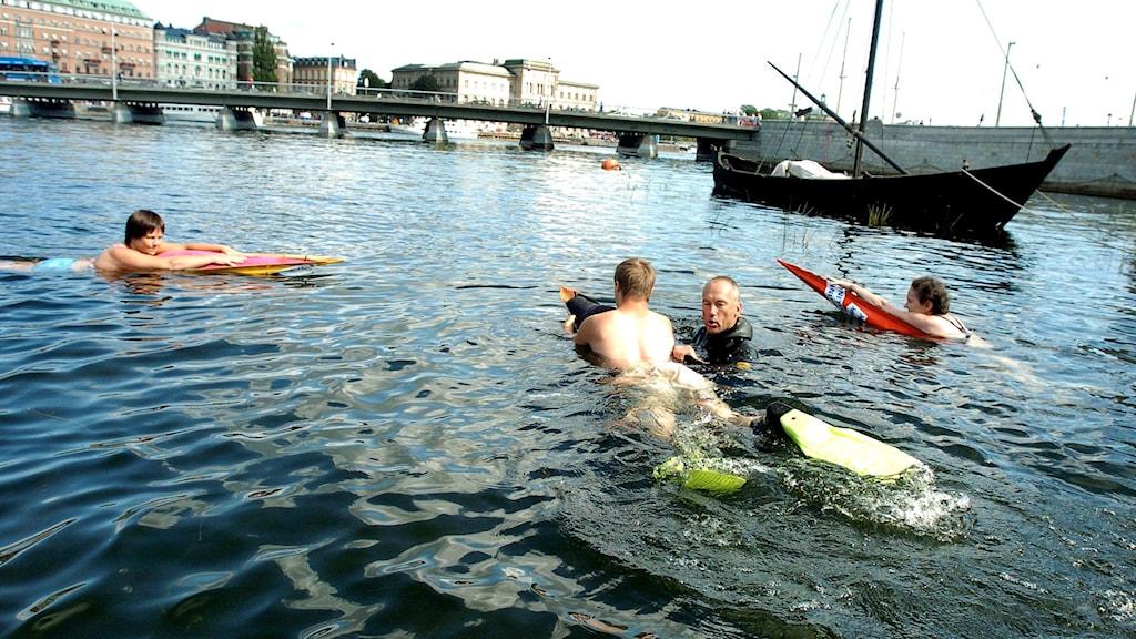 Swimming in Stockholm. Photo: Stefan Jerrevång / TT.