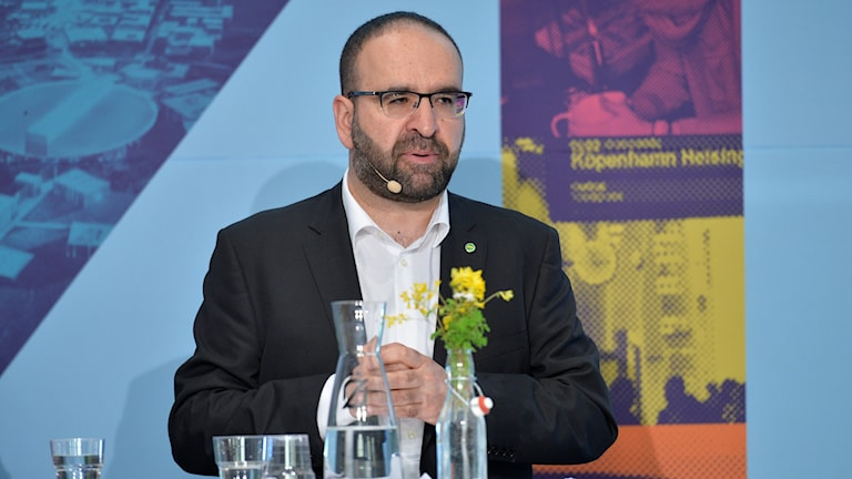 Green Party Housing Minister Mehmet Kaplan. Photo: Marcus Ericsson / TT.