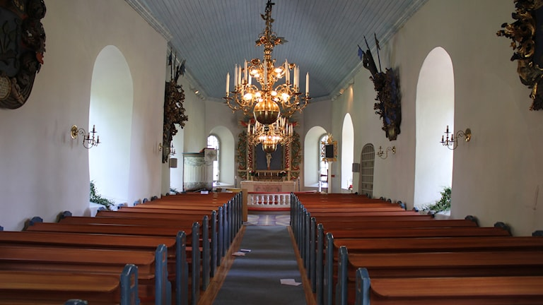 Säter church interior, place of Lisa Holm's funeral. Photo: Wikipedia Commons.
