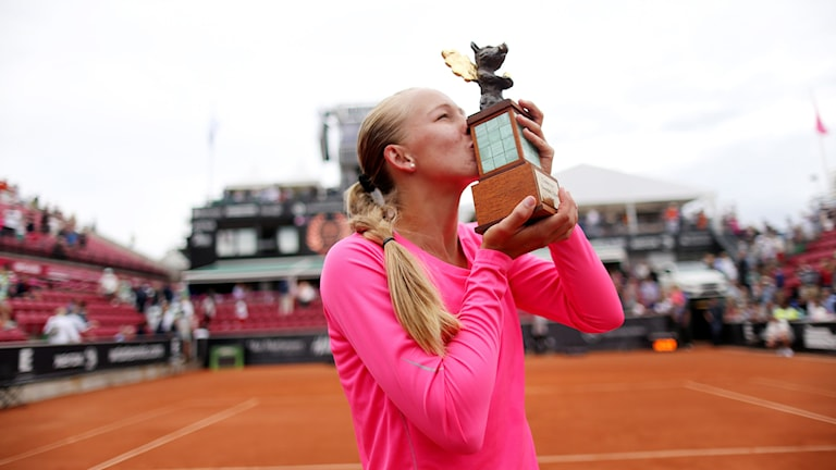 Johanna Larsson wins Swedish Open. Photo: Björn Larsson Rosvall / TT .