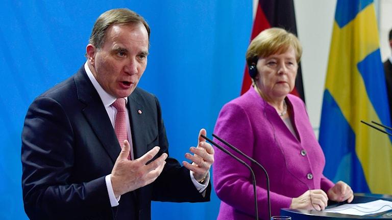 Swedish Prime Minister Stefan Löfven met with German Chancellor Angela Merkel in Berlin.
