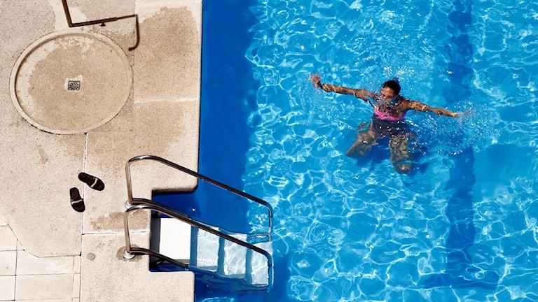 Swimming in Madrid. File photo: Oscar del Pozo / AP / TT