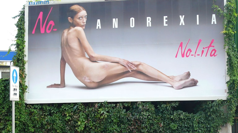 An anti-anorexia ad campaign from Italy. File photo: Alberto Pellaschiar / AP.