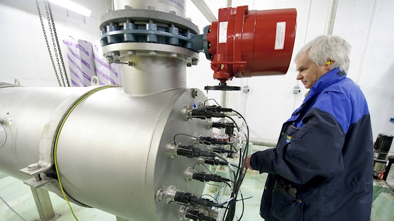 Österund's UV water treatment machine installed after the outbreak that sickened thousands. Photo: Tommy Andersson / TT.
