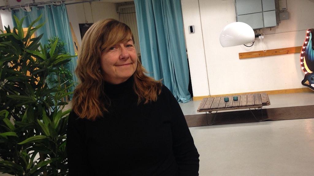 Birgitta Asplund Hansen, project leader at Stockholm's culture department. Photo: Frank Radosevich / Radio Sweden.