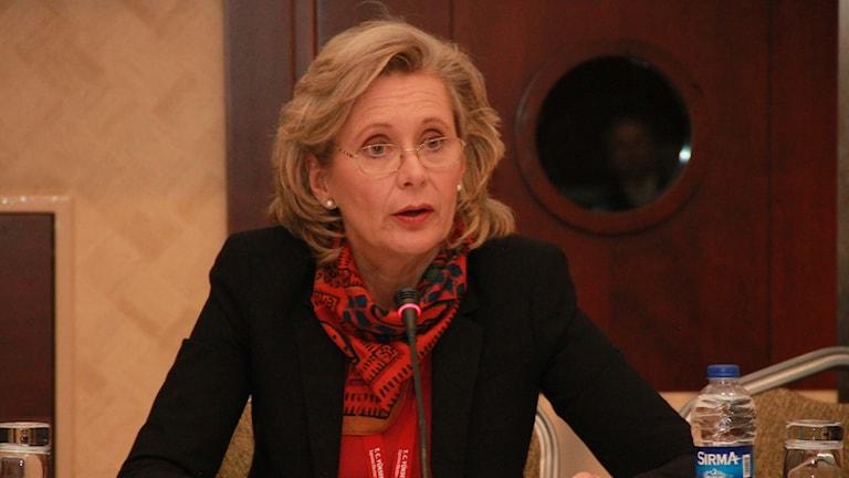 """OSCE PA Delegation Head Margareta Cederfelt at the briefing for OSCE parliamentary observers, Ankara, 29 Oct 2015"" by OSCE Parliamentary Assembly. CC BY-SA 2.0. www.flickr.com/photos/oscepa/22587715302/"