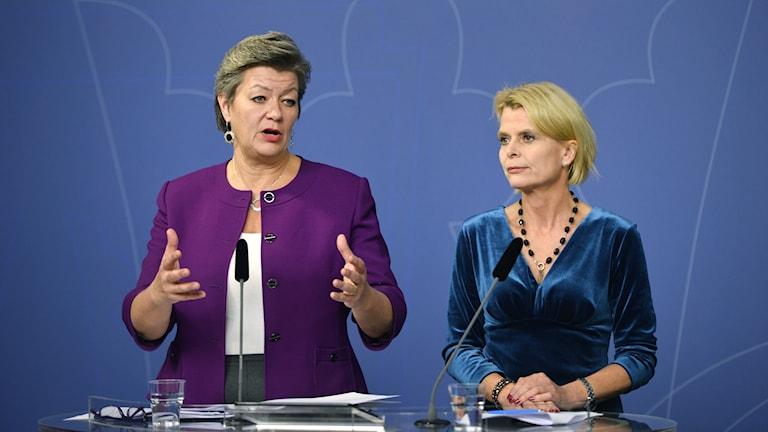 Ylva Johansson och Åsa Regnér