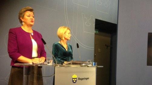 Ylva Johansson and Åsa Regnér