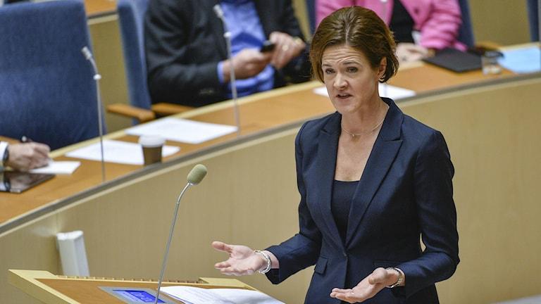 Moderate Party leader Anna Kinberg Batra. Photo: Anders Wiklund / TT.