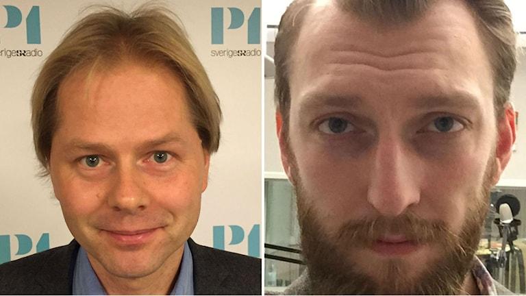 Anders Lindberg at tabloid Aftonbladet and Ivar Arpi at newspaper Svenska Dagbladet. Photo: Lotta Jinde/Sveriges Radio.
