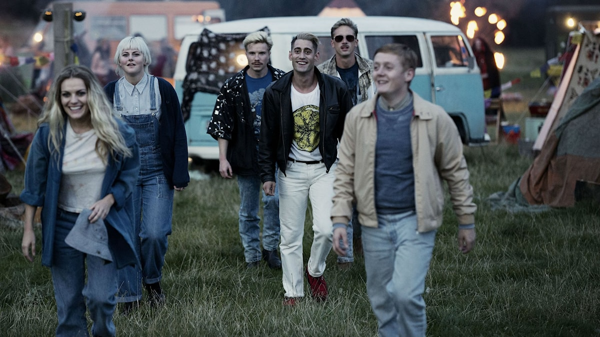 Some of the cast of This is England '90, including Thomas Turgoose, who plays Shaun (right). Photo: courtesy of C More