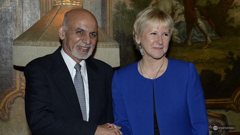 Afghan President Ashraf Ghani and Swedish Foreign Minister Margot Wallström, Photo: Anders Wiklund / TT