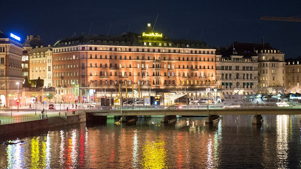Grand Hotel in Stockholm, where the party will be held.