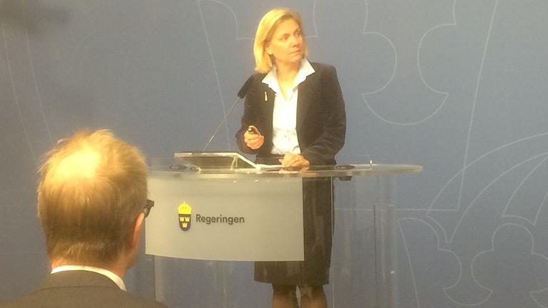 Finance Minister Magdalena Andersson. Photo: Ryan Tebo/Sveriges Radio.