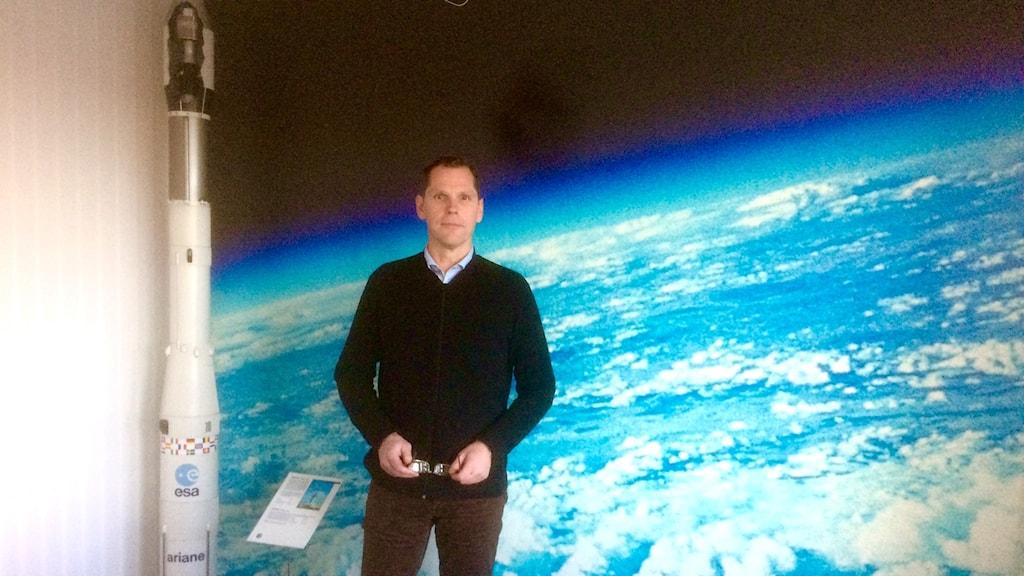 Christer Nilsson at the Swedish National Space Board. Photo: Ryan Tebo7Sveriges Radio.