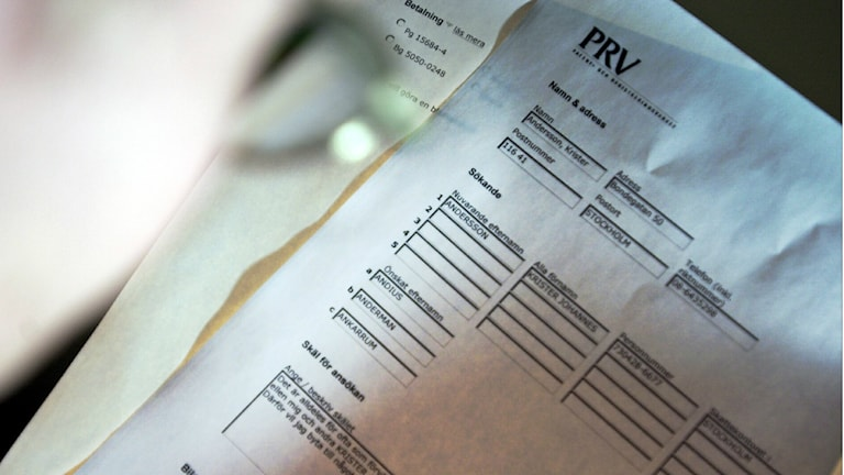 A form used to change one's name in Sweden. File photo: Ulf Palm / TT.