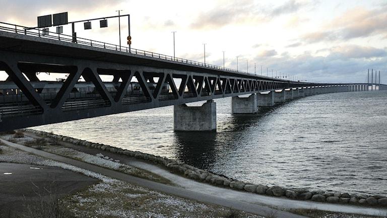 Мост и туннель через пролив Эресунн, связывающий Швецию с Данией. Фото: Johan Nilsson / TT.