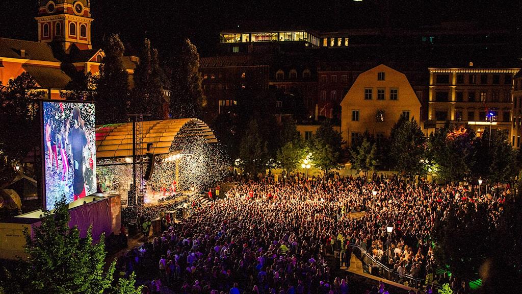 We are Stockholm festival in Kunsträdgården, 2015. Photo: Alexander Tillheden / Handout / TT