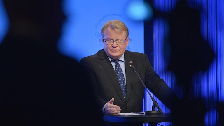 Swedish Defense Minister Peter Hultqvist. Photo: Henrik Montgomery / TT.