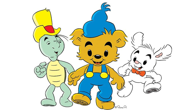 Bamse with his friends Skalman and Lille Skutt. Copyright: Rune Andréasson