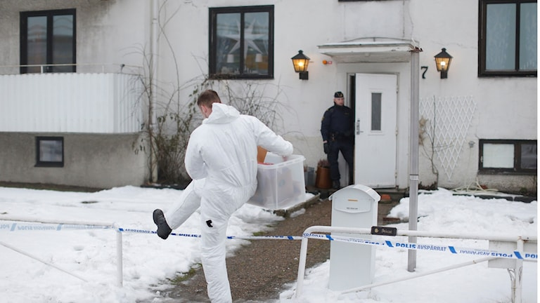 The accommodation in Mölndal, where a young woman was stabbed to death. Photo: Adam Ihse/TT