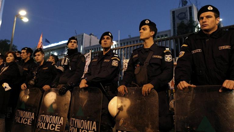 Greek police officers. File Photo: Petros Giannakouris / AP / TT.