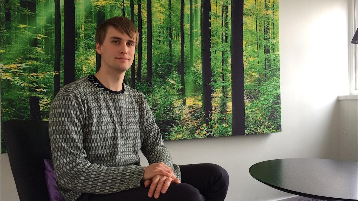 Johan Alvfors of  the Swedish Union of Students
